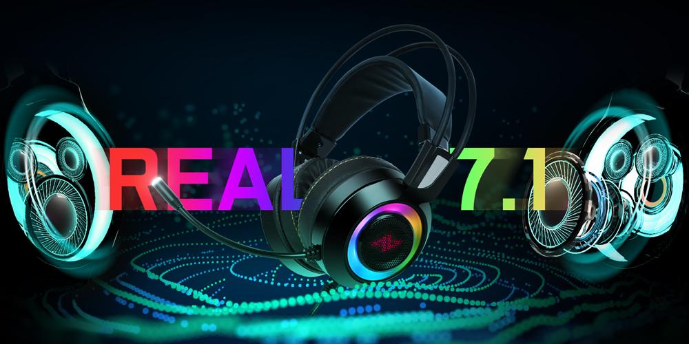 ABKONCORE CH60 리얼 7.1 진동 RGB 게이밍 헤드셋