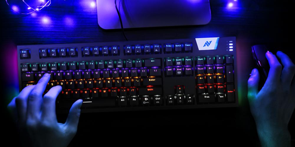 ABKONCORE K660 ARC 사이드 RGB 기계식 키보드